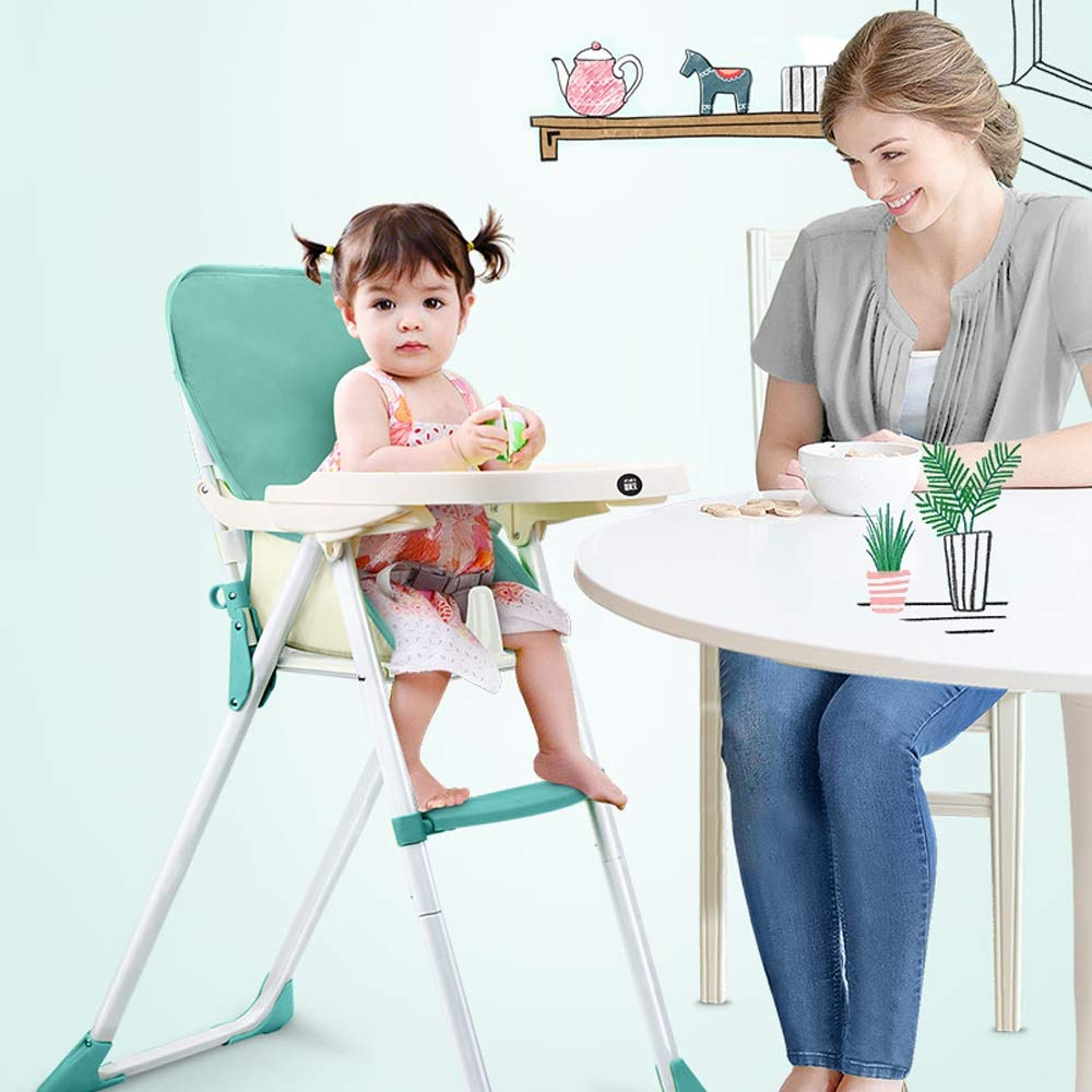 Swttppy Child Dinner Table Baby Dining Chair High Chair Safety Belt Portable Feeding Chair Stool Seat Lunch Chair Seat Stretch Wrap Feeding Chair Harness Baby Booster Seat by Swttppy