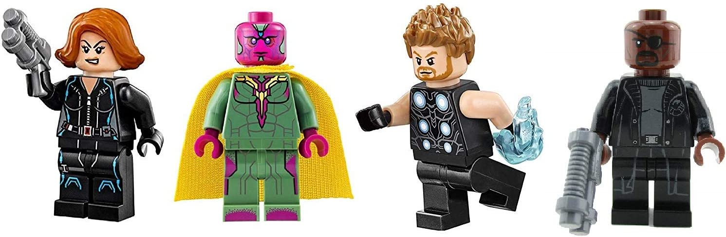 LEGO Super Heroes: Black Widow Nick Fury Vision and Thor - Avengers