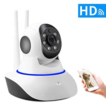 SDETER Cámara de Vigilancia 720P Cámara IP WIFI, Audio de 2 Vías, Detector de