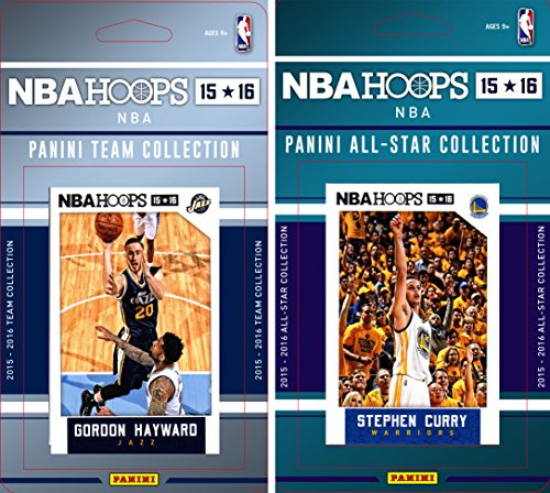 NBA Utah Jazz Licensed 2015-16 Hoops Team Plus All-Star Trading Card Set by C&I Collectables