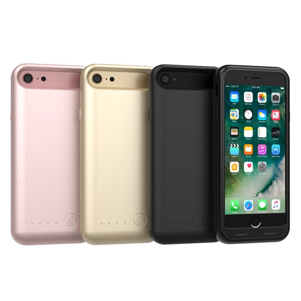 TAMO EDGE 3100 mAh Dual-Purpose Ultra-Slim Protective Extended Battery iPhone 7 Case, Jet Black (Premium Retail Packaging)
