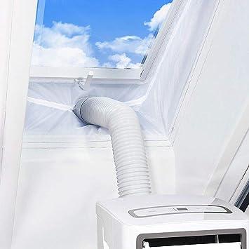 Fensterabdichtung Klimaanlage 400cm Passend zu Jedem Klimager/ät und Allen Schlauchgr/ö/ßen Fensterabdichtung F/ür Mobile Klimager/äte und Abluft-W/äschetrockner