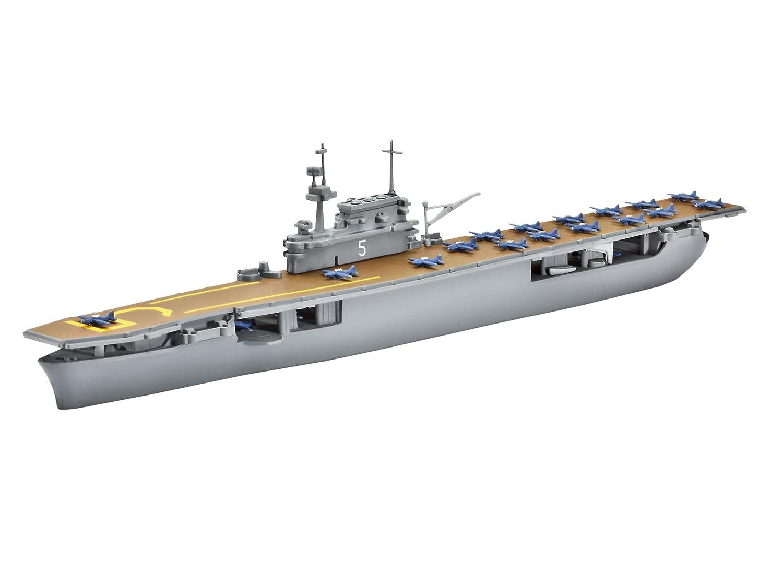 Revell Modellbausatz 05800 USS Yorktown (CV-5) - Maqueta de Barco portaaviones (Escala 1:1200) [Importado de Alemania]