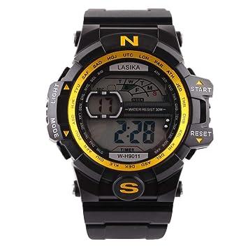 Logobeing Reloj LED Digital Hombre Pulsera Relojes Deportivos Impermeables Electrónica Digital (B): Amazon.es: Deportes y aire libre