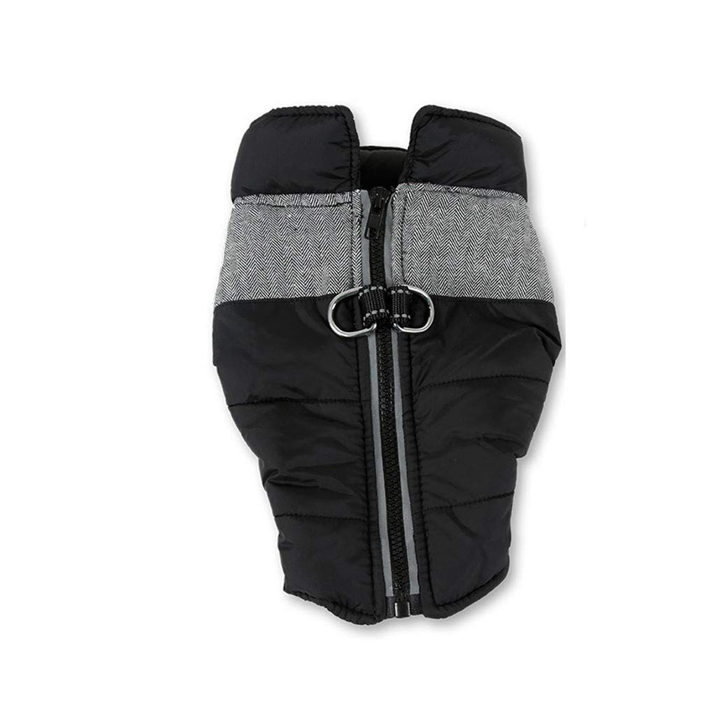 A Medium A Medium golden Retriever Dog Clothes Autumn and Winter wear Thickened Medium and Large Dogs Warm Zipper Coat pet Clothes Big Dog Vest (color   A, Size   M)