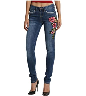 Amazon.com: Dustin ropa floral parche bordado Mid Rise hip ...