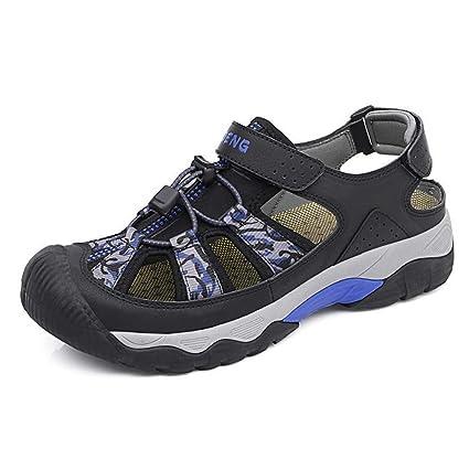 GHFJDO Hombres Zapatos de Senderismo de Verano, al Aire Libre Sandalias Deportivas de Baja Subida