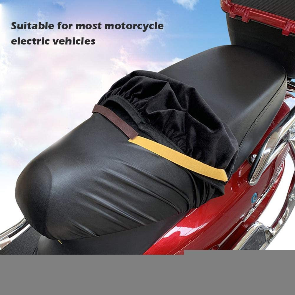 a los rayos UV a la lluvia Funda para asiento de moto o scooter color negro de piel resistente al agua tackjoke terciopelo c/álido y suave para el invierno