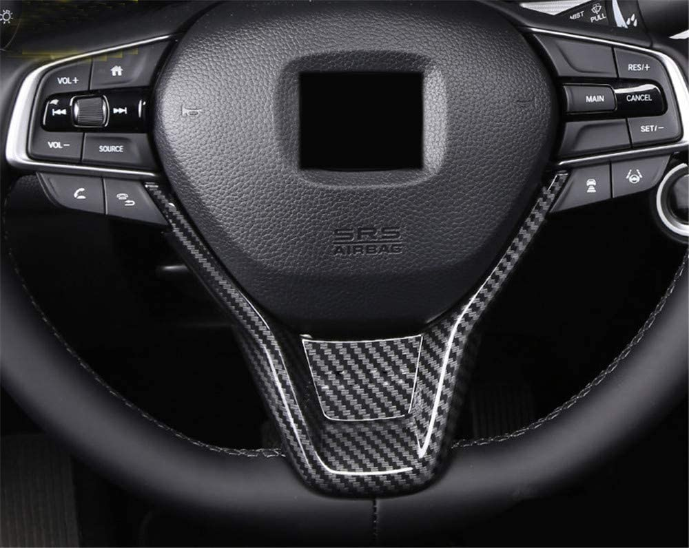 Carbon Fiber Grain HIGH FLYING for Honda Accord 2018 2019 2020 Car Accessories Steering Wheel Bottom U-Shaped Cover Trim ABS 1PC