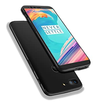 new concept 95f65 10c26 WindCase OnePlus 5T Case, 360° Full Body Coverage Protection Hard PC 3 in 1  Detachable Protective Case Cover for OnePlus 5T Black + Tempered Glass ...