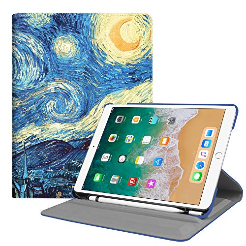 Fintie iPad Pro 10.5 Case with Built-in Pencil Holder - Multiple Angles Stand Protective Cover with Auto Sleep/Wake Feature for iPad Pro 10.5 Inch 2017 Release, Starry Night