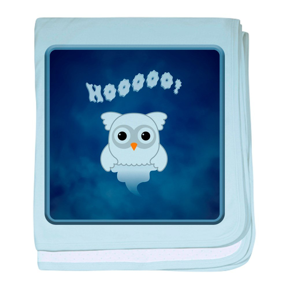 Truly Teague Baby Blanket Spooky Little Ghost Owl In The Mist - Sky Blue