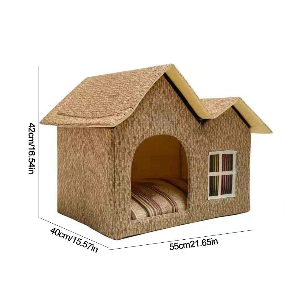 SinceY caseta para Perro, Doble Nido de Nido de Perro de caseta de caseta de Animal familier 55 40 42 cm: Amazon.es: Productos para mascotas