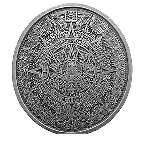 AZTEC CALENDAR Belt Buckle Mayan Mexico Toltec Design
