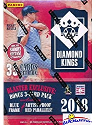2018 Panini Diamond Kings Baseball EXCLUSIVE Factory Sealed Retail Box with Special Blue Frame & Artist Proof Red Parallels! Look for Rookies & Autographs of SHOHEI OHTANI,Ronald Acuna & More! WOWZZER