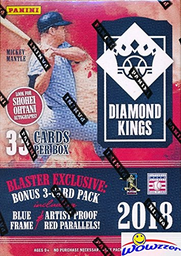 2018 Panini Diamond Kings Baseball EXCLUSIVE Factory Sealed Retail Box with Special Blue Frame & Artist Proof Red Parallels! Look for Rookies & Autographs of SHOHEI OHTANI,Ronald Acuna & More! WOWZZER from Wowzzer