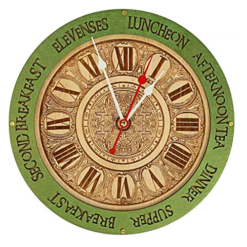 Meal times unique kitchen vintage style decor wooden wall clock emerald green, personalized, housewarming, Victorian, gift, wall decor, Anniversary Gift, meal planning, kitchen clocks - Clock Cottage Garden