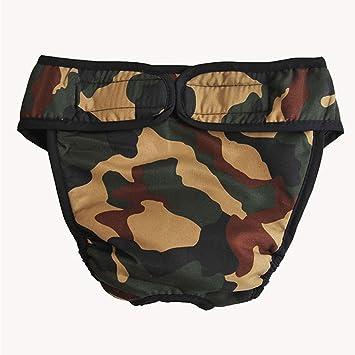 Belldan Pantalones Sanitarios Perros Pañales Mascotas Ropa Interior Menstrual Bragas Fisiológicas Calzoncillos Lavables Animal Doméstico