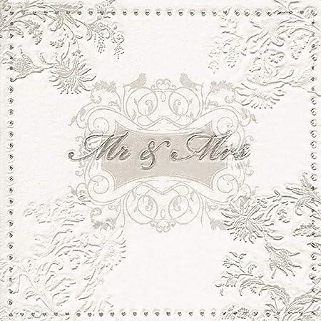 takestop Set 72/pi/èces serviettes de papier pour f/êtes Rose Blanc Beige 33/x 33/cm jetable mariage wedding day anniversaire Promesse Party
