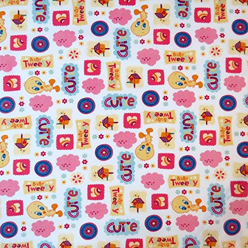 SheetWorld Fitted Sheet (Fits BabyBjorn Travel Crib Light) - Baby Tweety - Made In USA