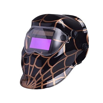 Giantree Casco de soldadura, 1501A Spider-Man 3 oscurecimiento automático Soldadura Casco Soldador Máscaras