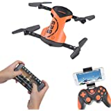 LHI Headless Quadcopter Pocket Quadcopter Drone with HD Wi-Fi Camera 628 FPV Foldable RC Drone with App Voice Control 2.4Ghz 6-Axis Gyro One Key Return