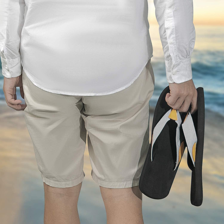 4HOW Mens Casual Beach Flip Flops Non Slip Comfort Slippers Gifts for Boyfriend Dress Sandals Beach Stuff Grey US 13