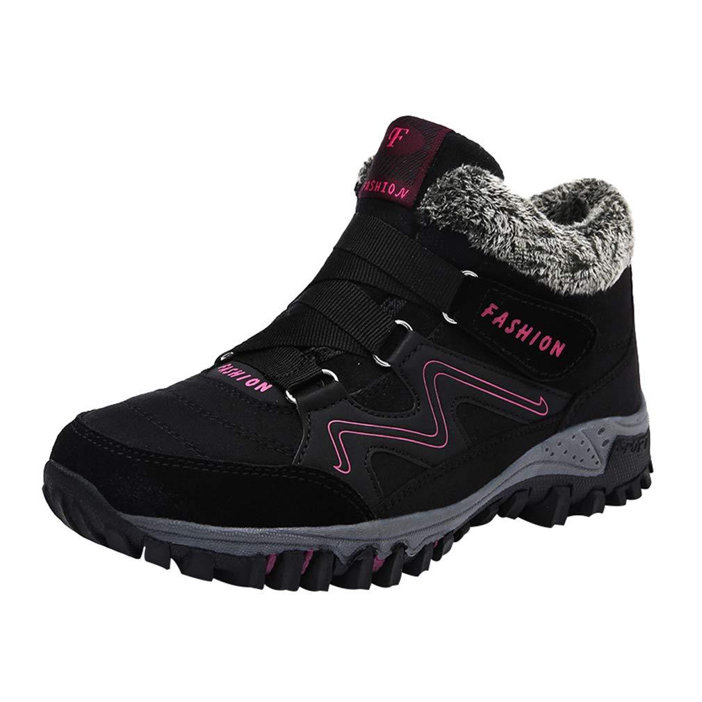 Mä nner Frauen Winter Warme Stiefel Schnee Hochhaus Stiefel Trekking Boots Wanderschuhe Winterstiefel Rutschfest Outdoor Mit Klettverschluss