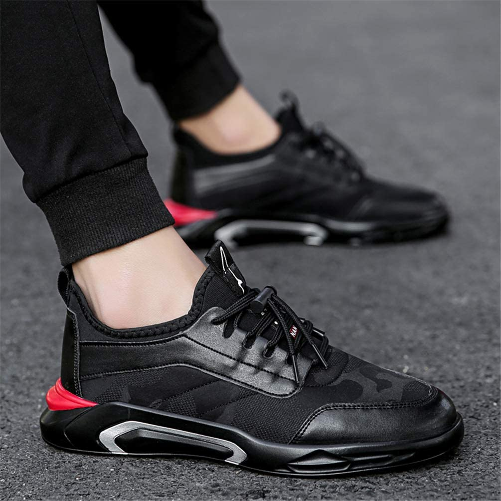 Men Canvas Casual Shoes Breathable Lace Up Sneakers Fashion Lightweight Footwear Casual Outdoor Running Hiking Trainers Black