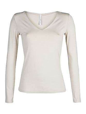 precio de descuento marca famosa venta usa online LUMINA - Camiseta de Manga Larga - para Mujer Beige Talla ...