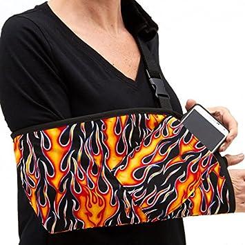 2418b3c0f42d9b Amazon.com: CastCoverz! Slingz! Designer Arm Sling in Flames on ...