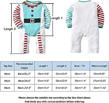 Niña Niño Pijamas Set Niño Ropa Onesies - 2 Pcs Navidad Algodón ...