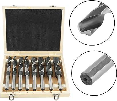 Twist Drill Bit Set 8Pcs White HSS Twist Drill Bit Set Large Heat Treated Industrial