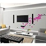 StickieArt - Pink Flower Branch Wall Decal - Medium - 50 x 70 cm - STA-120