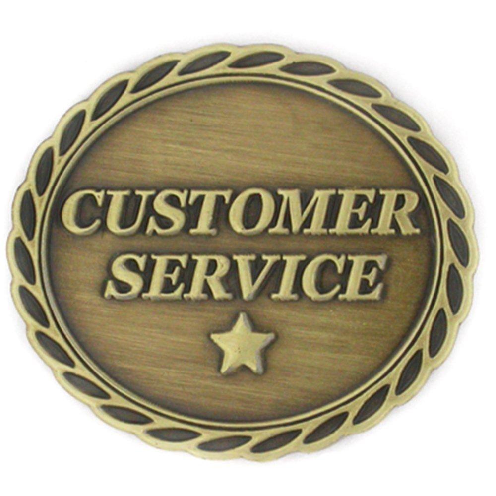 PinMart's Antique Bronze Customer Service Corporate Star Award Lapel Pin