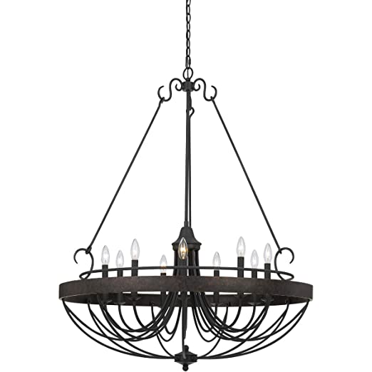 Amazon.com: Chandeliers - 9 lámparas de techo con textura ...