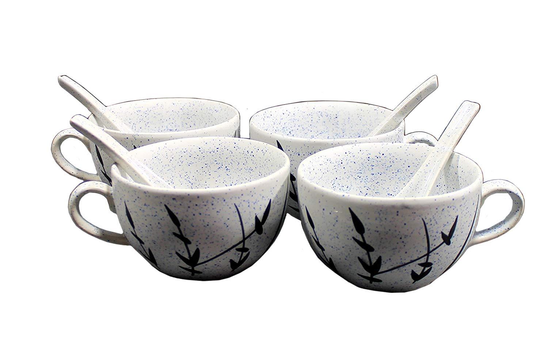 Kleo - cerámica porcelana Jumbo tazones de sopa, tazones de arroz, cuenco para cereales, cuenco de postre, cuencos de servir, fruta cuencos de en color ...