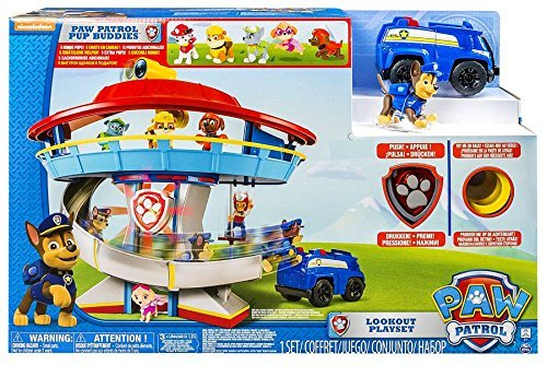 Paw Patrol Lookout Playset with 6 Pup Figures (Paw Patrol Lookout Tower)