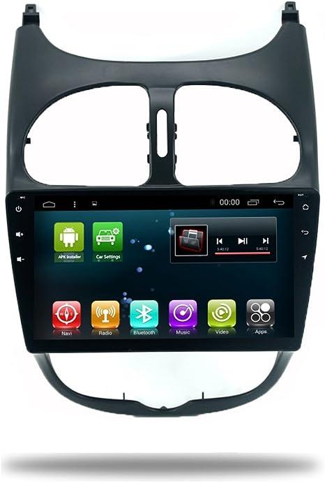 Reproductor de Radio GPS para Coche Android 7.1 para Peugeot 206 2000 – 2016 estéreo Viedo WiFi Bluetooth 9 Pulgadas Sistema Multimedia GPS no Reproductor de DVD navegación: Amazon.es: Electrónica