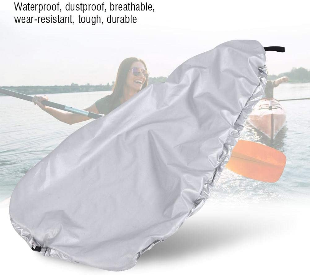 Alomejor Kayak Cover Kayak Cockpit Cover Universal Canoe Storage Dust Sunblock Cover for Fishing Boat