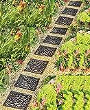 landscape stepping stones Garden Path Outdoor Pathway Trail Flowerbed Walkway Yard Decor (set of 9)