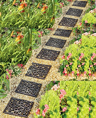 Garden Path Outdoor Pathway Trail Flowerbed Walkway Yard Decor (set of 9)
