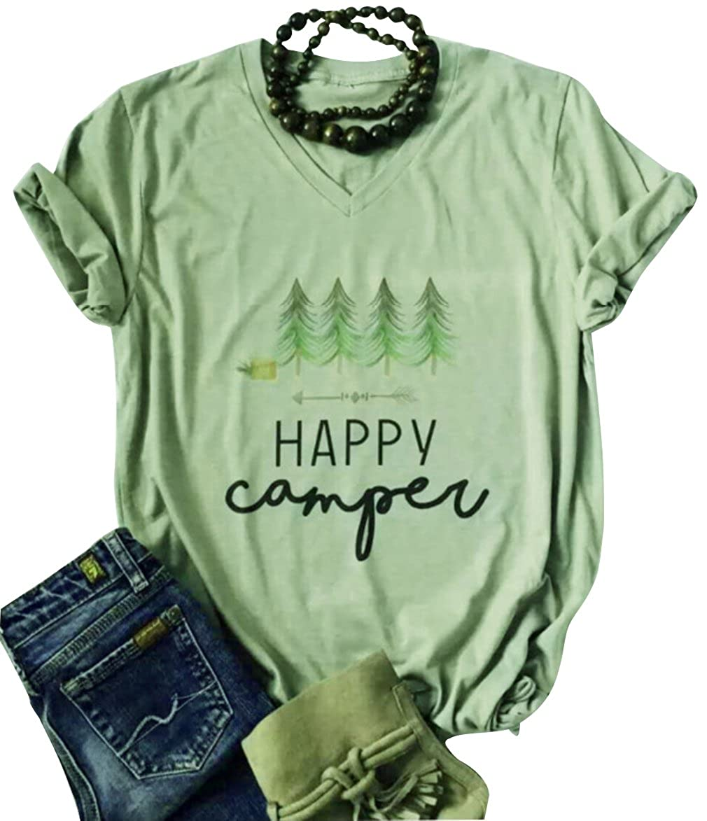c47ffa97 Chinabrands.com: Dropshipping & Wholesale cheap Happy Camper Casual T-Shirt  Womens Short Sleeve O Neck Lette online.