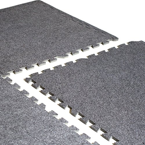 "CAP Barbell 24 Square'  24"" x 24"" Interlocking Carpet-Top Pu"