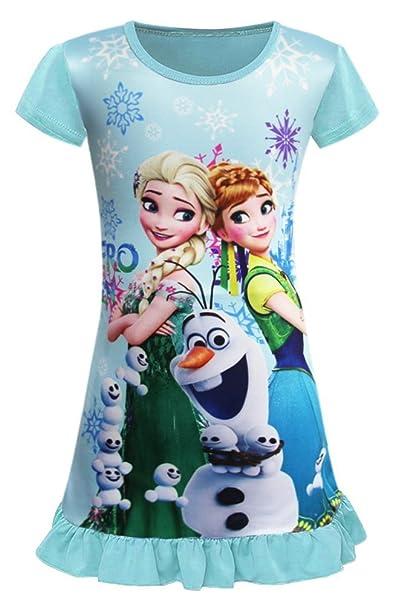 Amazon.com: WNQY - Pijamas de princesa Anna y Elsa para niña ...