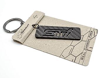 Llavero De Fibra De Carbono STI Logotipo Distintivo Emblema Badge Logo Cadena de Claves