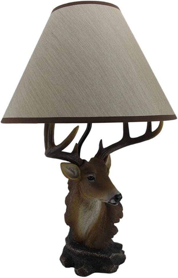 Dexter 20 Inch Tall Deer Bust Table Lamp