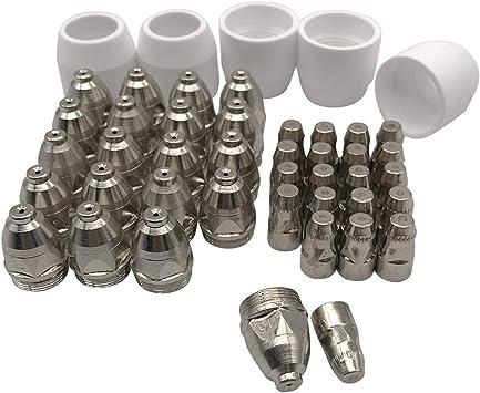 P80 Air Plasma Cutter Torch Consumables Tips Nozzles 1.5mm 100Amp 45pcs