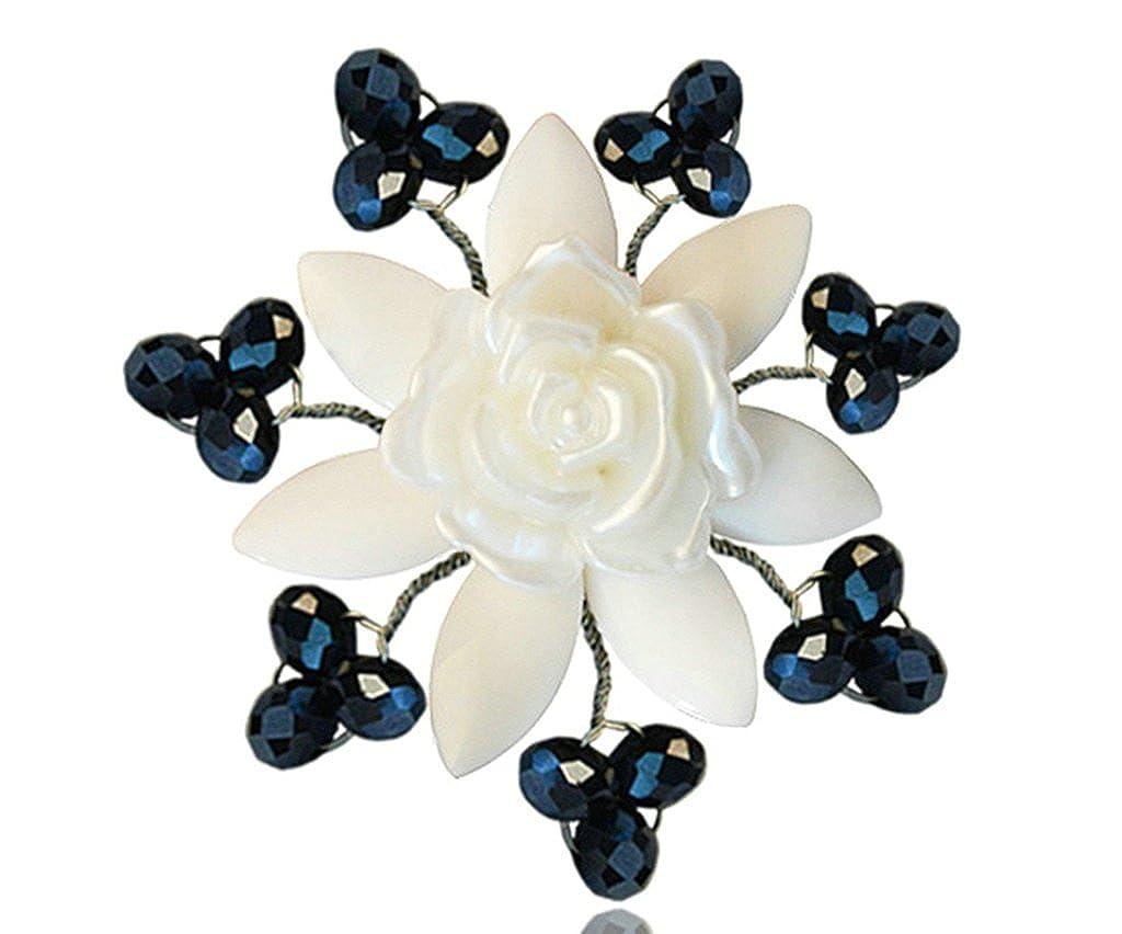 AnazoZ Mode Bijoux Femme Broche en acier inoxydable Broche Fleur Bouquet broches et pins de mariage Broche Couleur Blanc BBTPPJW46X442