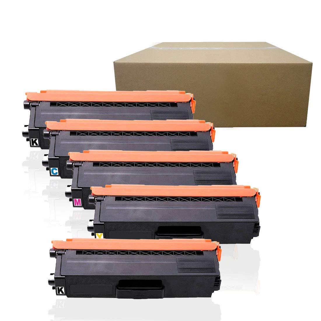 5 PACK Compatible Toner for Brother TN315 TN-315 TN315BK TN315C TN315M TN315Y